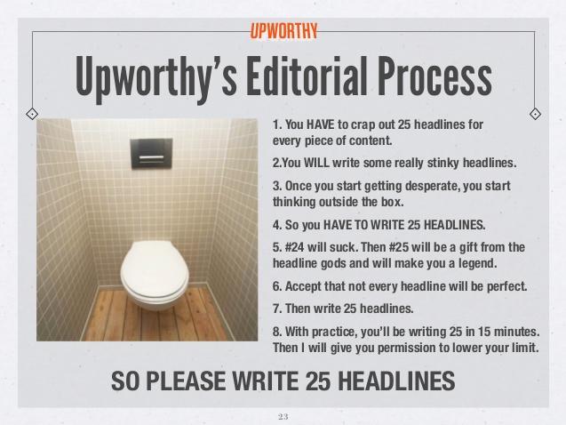 Write headlines like Upworthy