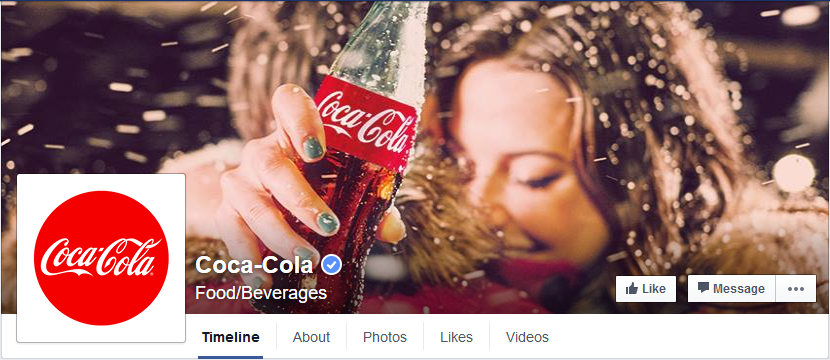 Screenshot Facebook - Coca Cola