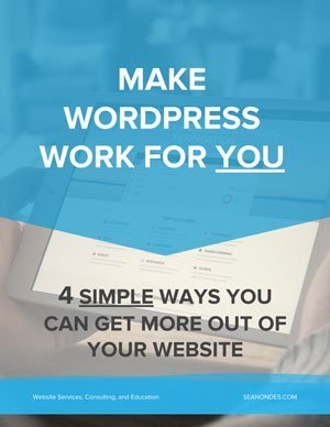 Make WordPress Work For You - seanondes.com - Ebook