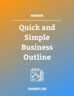 Website Workbooks - Quick and Simple Business Outline Cover - Sean Ondes