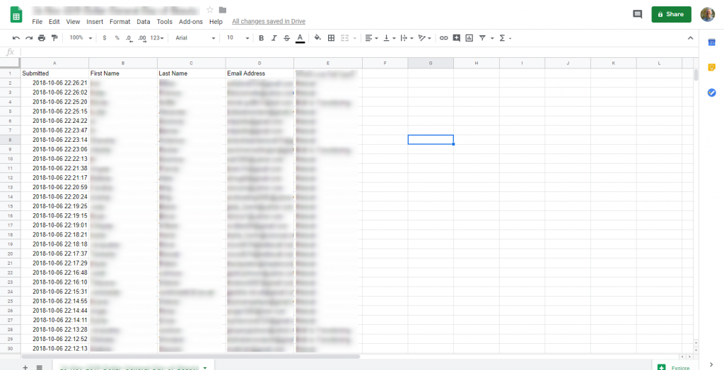Klaviyo Uploads - Raw Data in Google Sheets