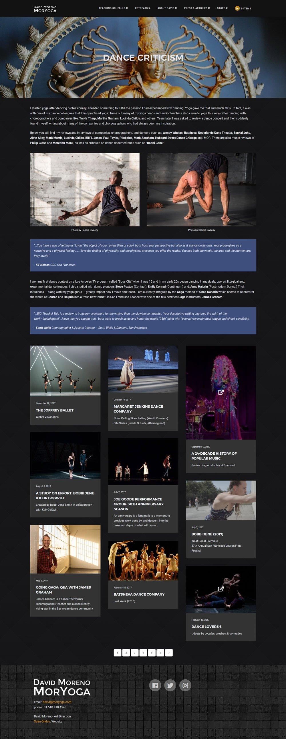 MorYoga - Dance Criticism - moryoga.com