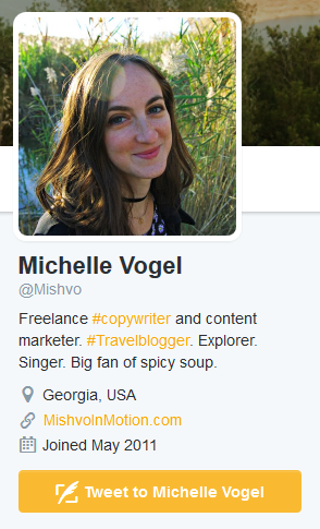 Great Use of Keywords in Twitter Bio